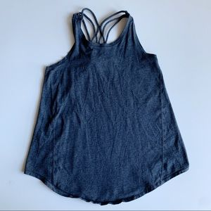 Ivivva Lululemon Gray Strappy Tank Top Size 10